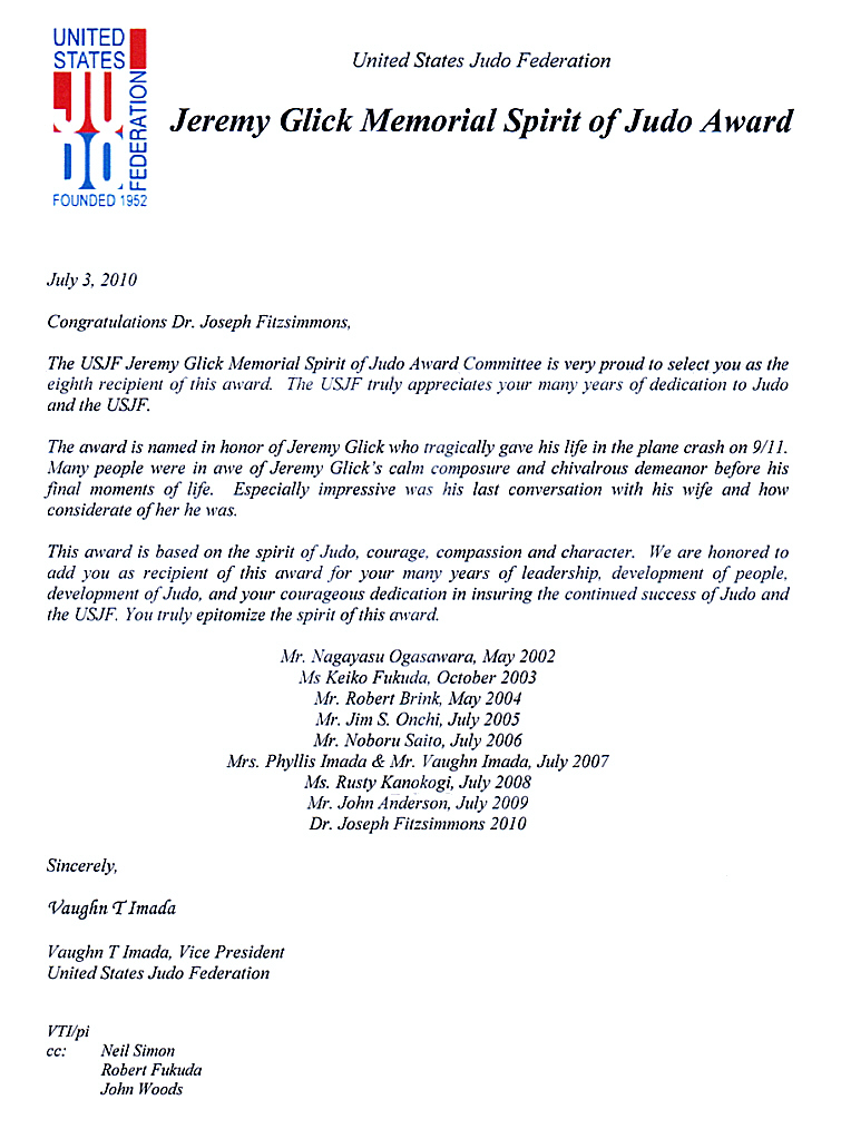 letter of award