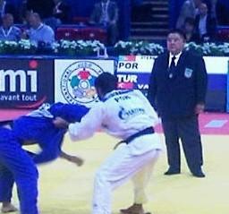 Fukuda on the mat