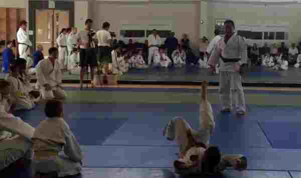 Sensei Asano on the mat