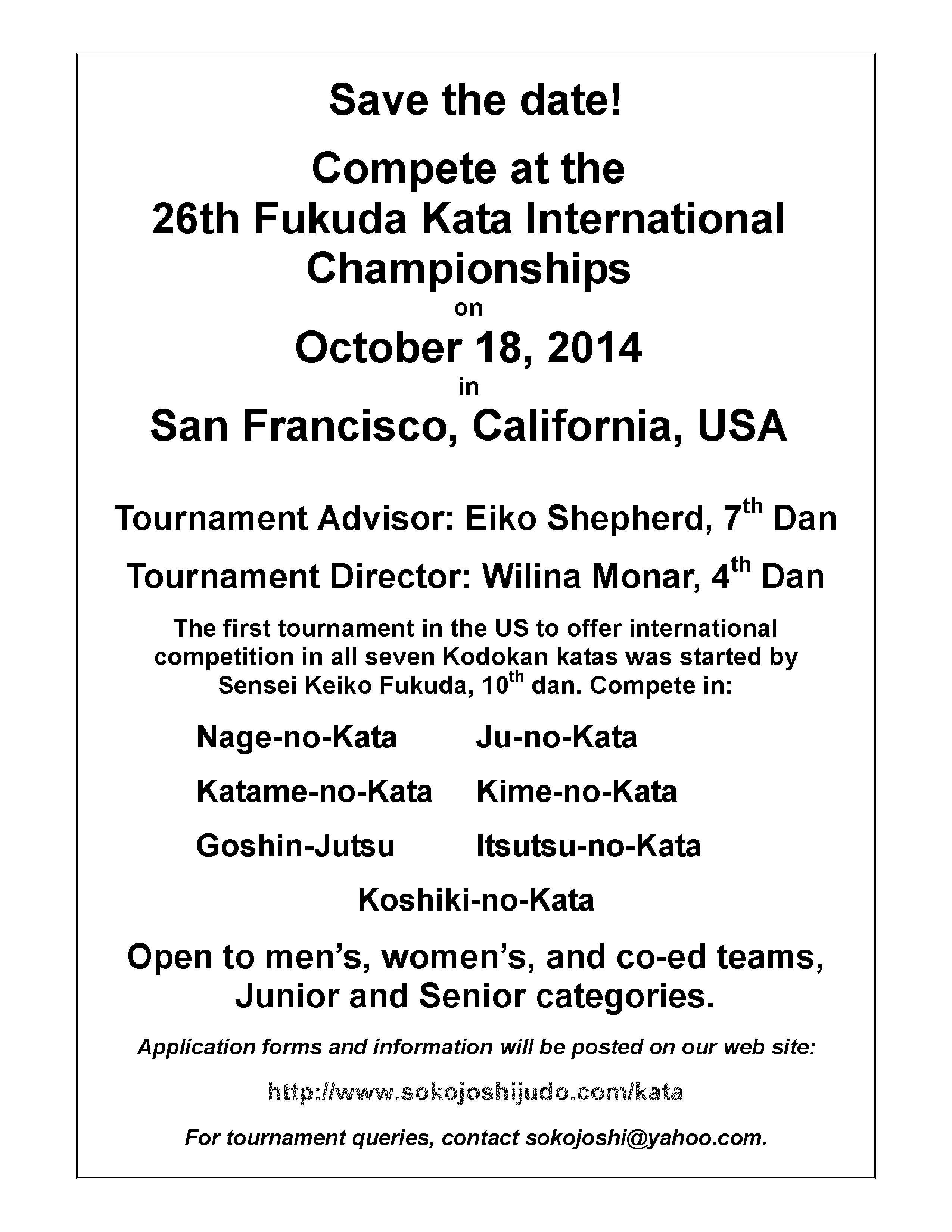 Tournament details