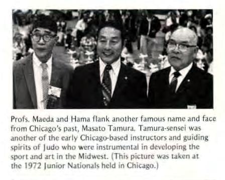 Profs Maeda and Hama with Masato Tamura