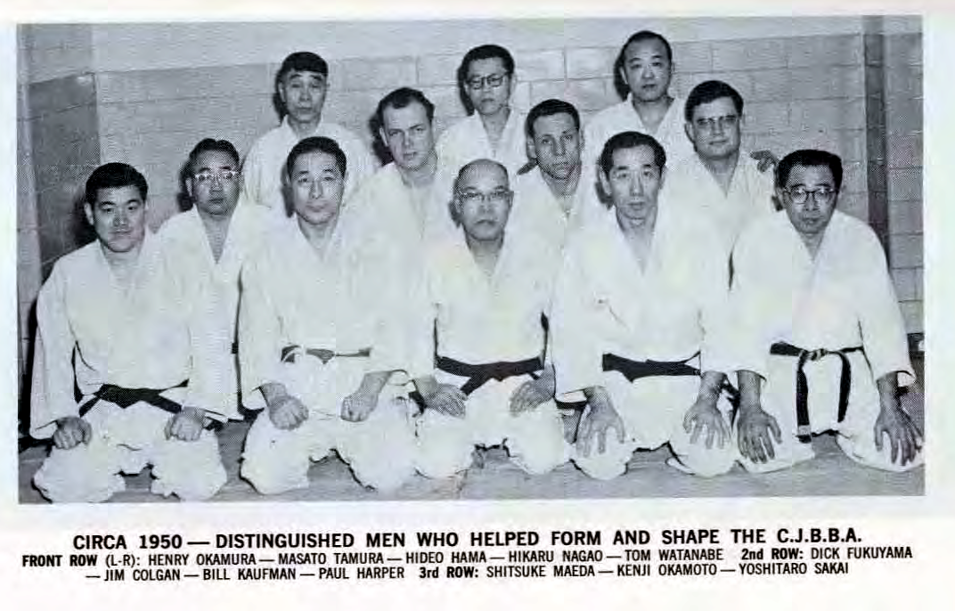group photo of distinguished Chicago judoka c. 1950