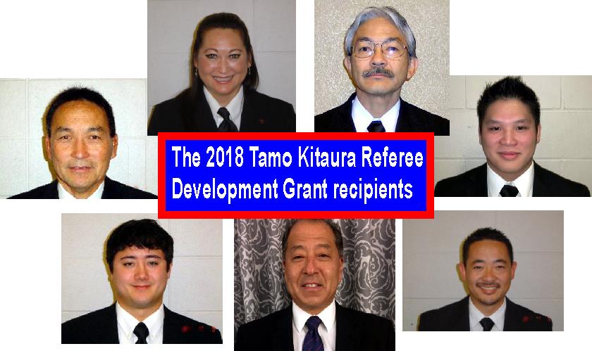 2018 Tamo Kitaura Referee Development Grant recipients