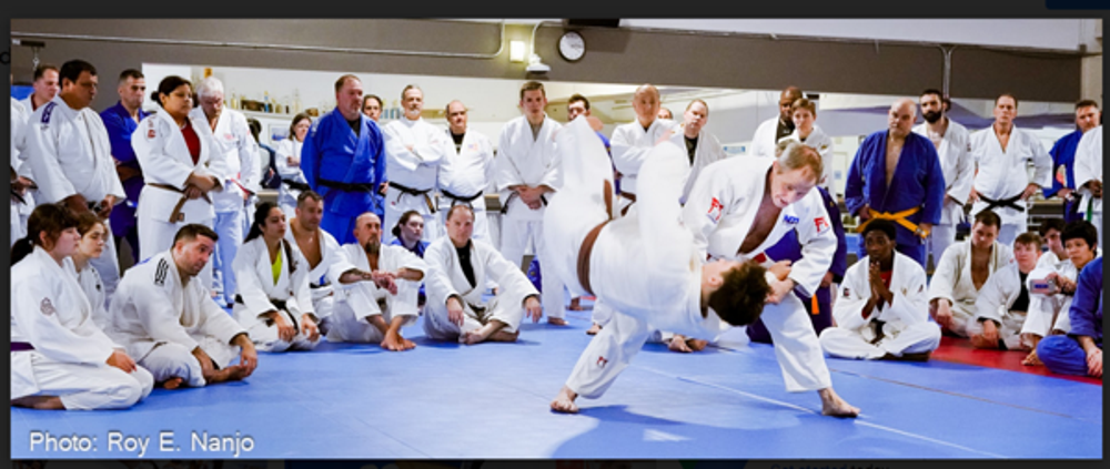 Neil Adams, MBE, at the Washington Judo Club