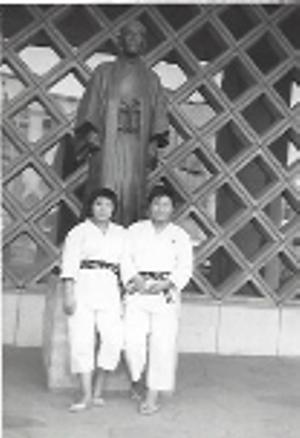 Eiko Shepherd at the Kodokan