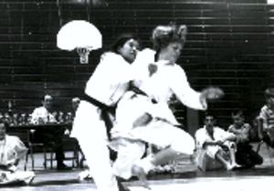 Sensei Shepherd's ippon during competition at Washington University Tournament in St. Louis.