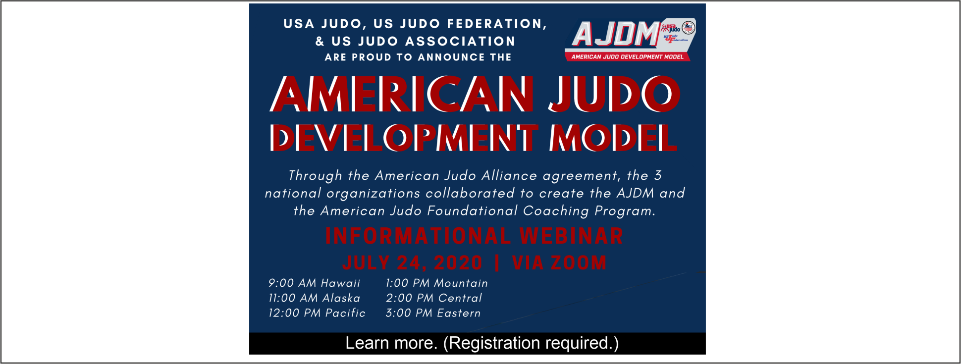Learn more about the American Judo Development Model