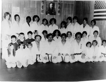Sensei Bassano with early members of the Richmond County Judo Club in Tottenville, Staten Island in the early 70s