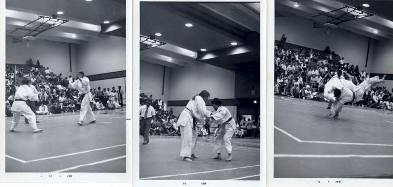 Maureen Braziel in three photos 1974 Nationals First Grand Championship vs. Diane Pierce