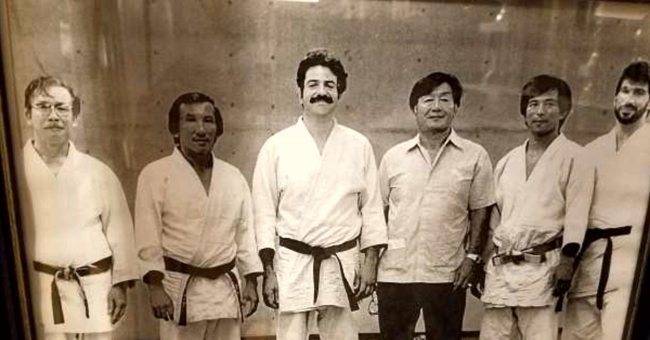 Puerto Rico Judo Federation: Left to Right, Sensei Chang, Sensei Chiu, Sensei Montalvo, Sensei Takahama, Sensei Tomita, Hector Estevez