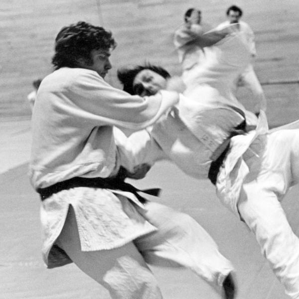 Lou Moyerman in action